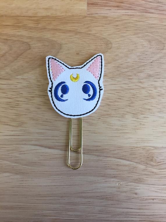 Vinyl Artemis Cat Clip/Planner Clip/Bookmark. Lunacat Planner Clip. Cat Planner Clip. Moon cat planner clip. Artemis Cat Planner Clip