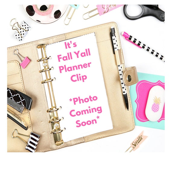 It's Fall Yall Planner Clip/Planner Clip/Bookmark. Fall Yall Planner Clip. Fall Planner Clip.