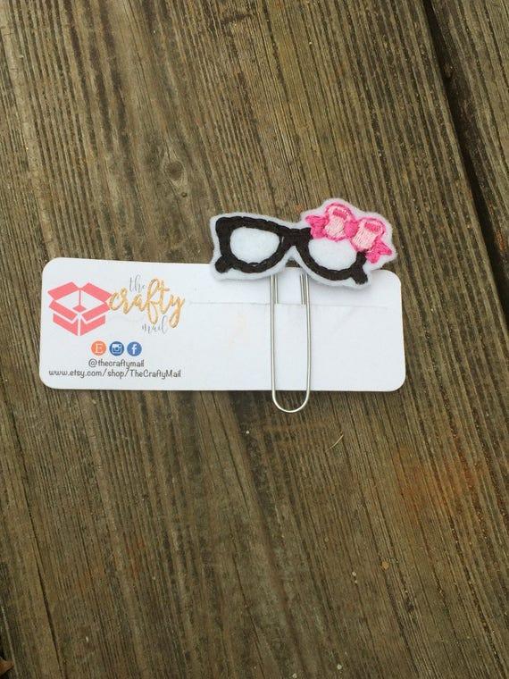Diva Glasses Clip/Planner Clip/Bookmark. Planner Girl Planner Clip