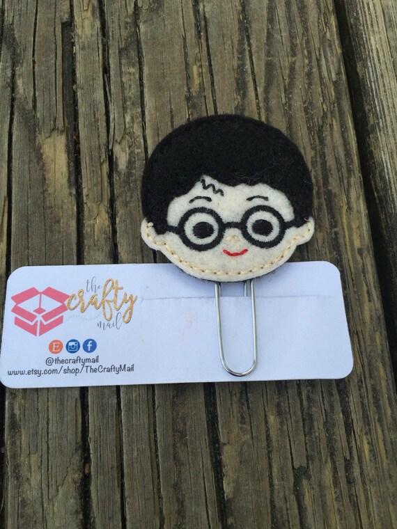 Harry Potter Themed Planner Clip/Bookmark. Owl, Hedwig, Deathly Hallows, Gryffindor Crest planner clip