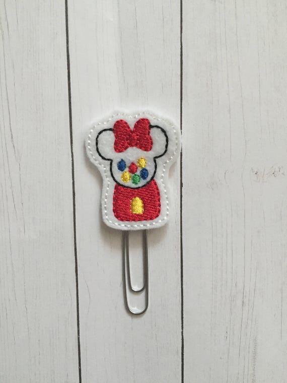 Mouse Bubble Gum Clip/Planner Clip/Bookmark. Mouse Inspired Planner Clip. Bubble Gum Planner Clip. Minnie Planner Clip