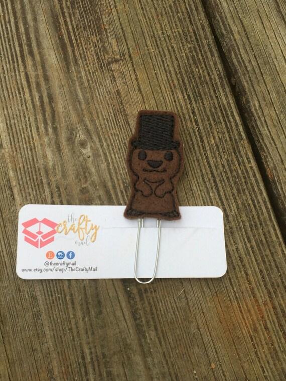Groundhog Planner Clip/Planner Clip/Bookmark.