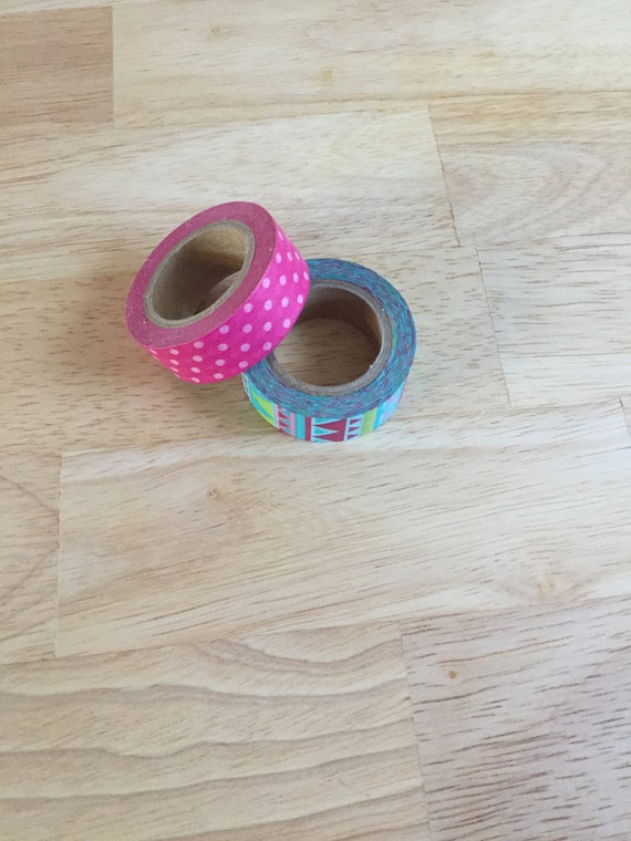 Tribal Print Washi Tape/Paper Tape/Decorative Tape/Packaging. Polka Dot Washi. Tribal Washi. 2 Styles to choose from