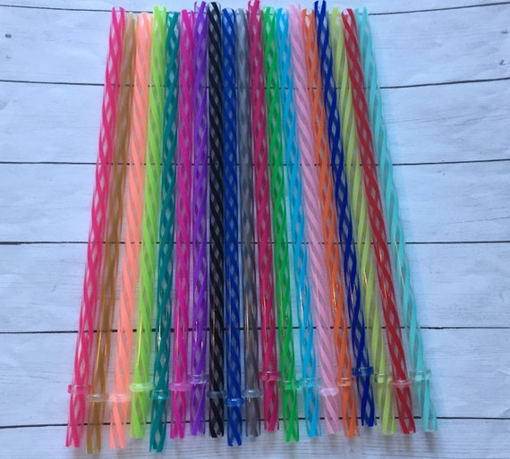 "Reusable 9"" Clear/Swirly Straws/Acrylic Straws/Wholesale Straws/Reusable Straws."