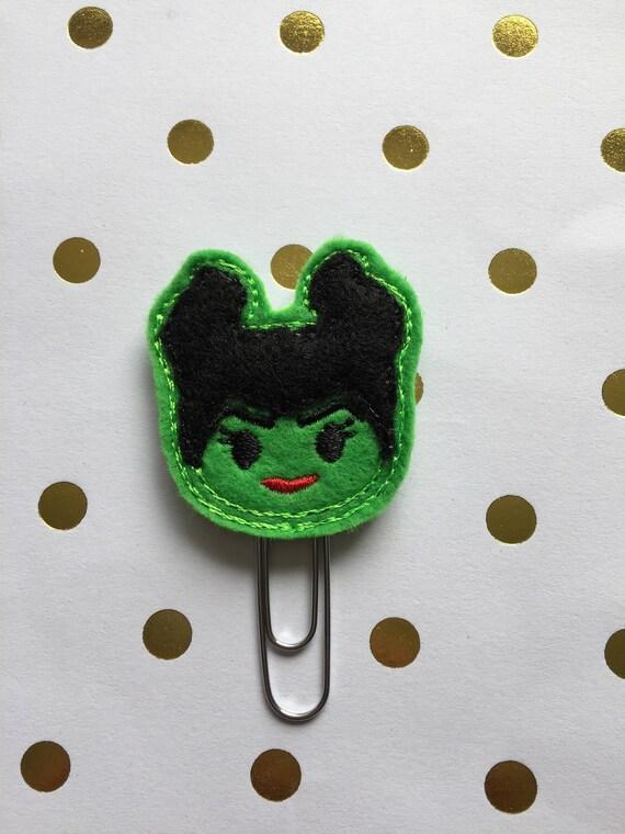 Maleficent planner Clip/Planner Clip/Bookmark. Character Planner Clip. Halloween planner clip. Fall Clip