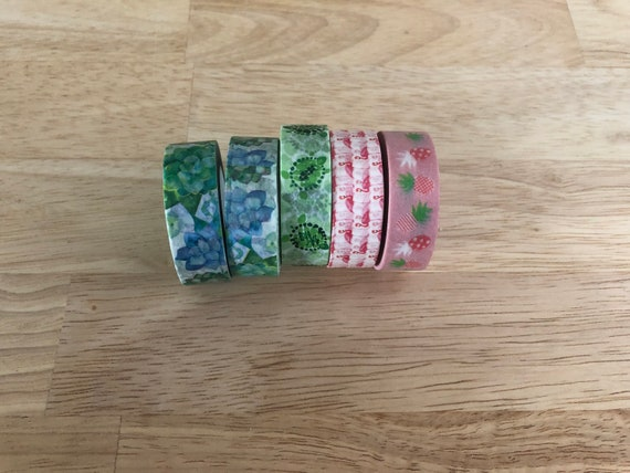 Washi Tape/Paper Tape/Decorative Tape/Packaging. Turtle Washi. Succulent Washi. Flamingo Washi. Pineapple Washi Tape. 4 Styles