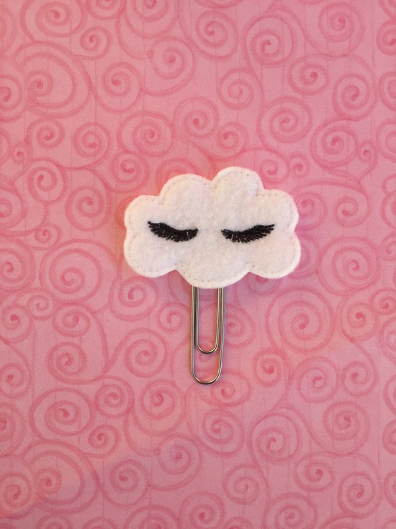 Felt Cloud Clip/Paper Clip/Feltie Clip. Cloud Planner Clip. Winking Cloud Planner Clip. Winking Planner Clip. Weather Planner Clip