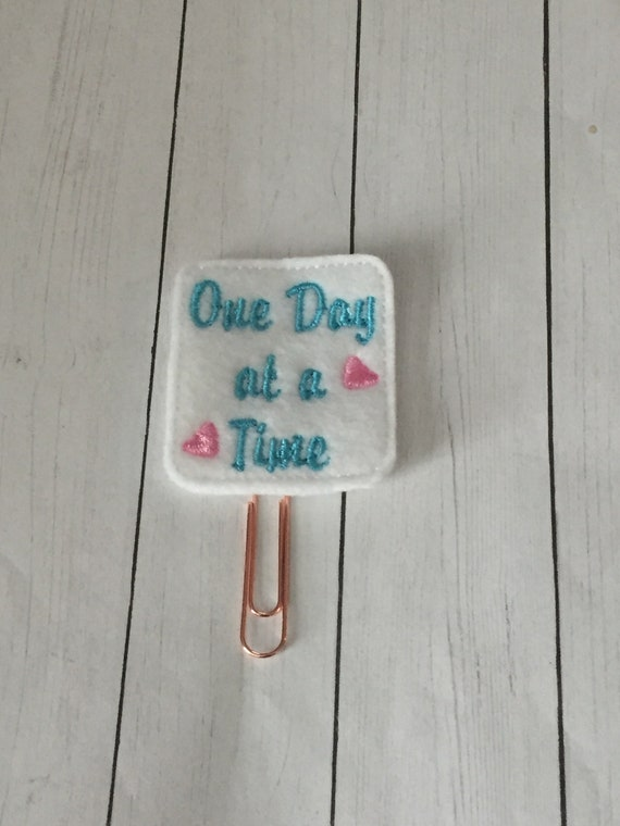 One Day At A Time Planner Clip. Word Planner Clip. Day Planner Clip