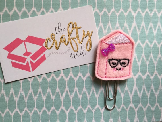 Book Nerd Paper Clip/planner clip/planner supplies. Choose with or without bow. School planner clip. Nerdy planner clip. Geeky planner clip