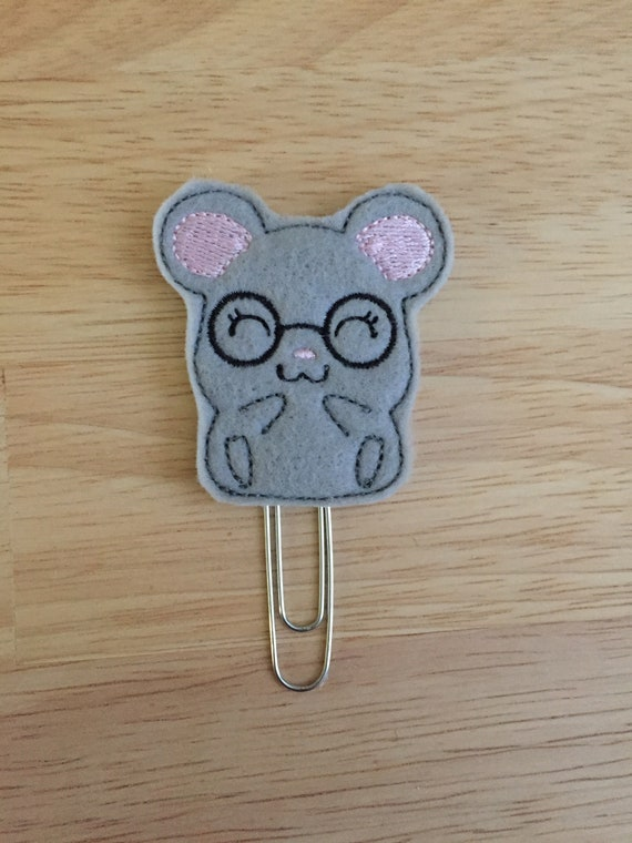 Geeky Mouse Planner Clip/Planner Clip/Bookmark. Mouse Planner Clip. Animal Planner Clip. Geeky Planner Clip
