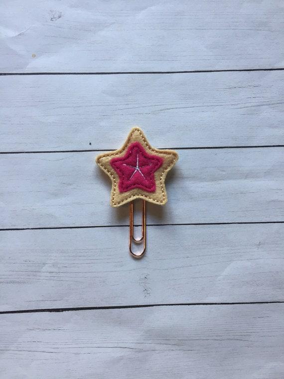 Tan & Pink Starfish Clip/Planner Clip/Bookmark. Summer planner clip