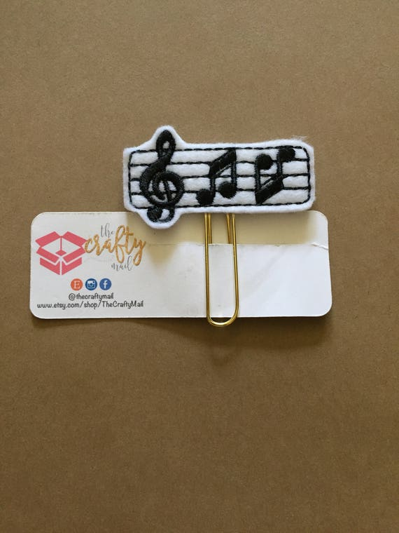 Music Notes planner Clip/Planner Clip/Bookmark. Musical Planner Clip