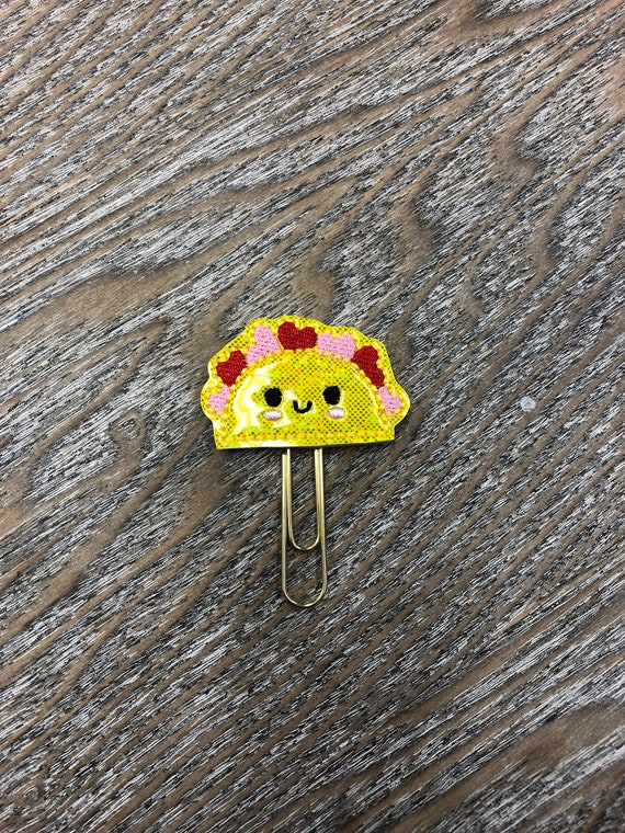 Glitter Taco With Hearts Planner Clip. Taco Planner Clip. Heart Planner Clip. Food Planner Clip. Taco Tuesday. Foodie Planner Clip