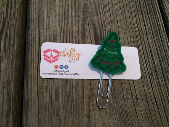 Oh Christmas Tree Planner Clip/Paper Clip/Feltie Clip. Christmas planner clips