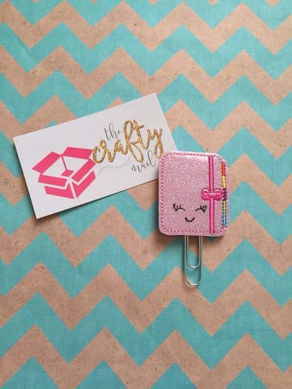 Happy Planner Glitter Planner Clip/Paper Clip/Feltie Clip/Bookmark. Notebook planner clip. Planning planner clip