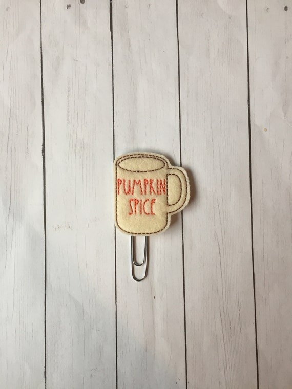 Pumpkin Spice Coffee Cup Planner Clip. Coffee Mug Planner Clip. Rae Dunn Planner Clip. Pumpkin Spice Planner Clip. Fall Planner Clip. PSL