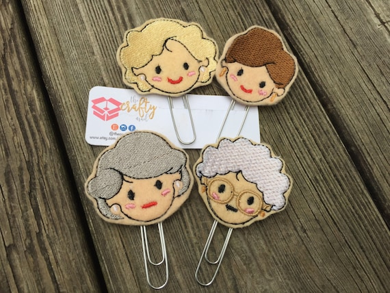 The Golden Girls Planner Clip/Paper Clip/Feltie Clip. Purchase one or a complete set!