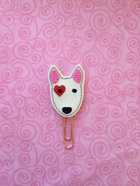 Glitter Valentine dog Paper Clip/Planner Clip. Dog planner clip. Valentine planner clip. Animal planner clip