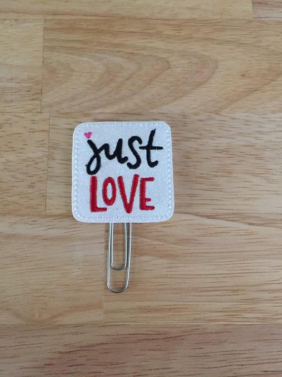Just Love Clip/Planner Clip/Bookmark. Valentine Planner Clip. Kiss Planner Clip. Love Planner Clip. Glitter Planner