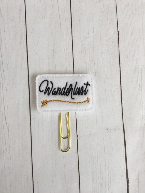 Wanderlust Planner Clip/Planner Clip/Bookmark. Adventure Planner Clip. Travel Planner Clip
