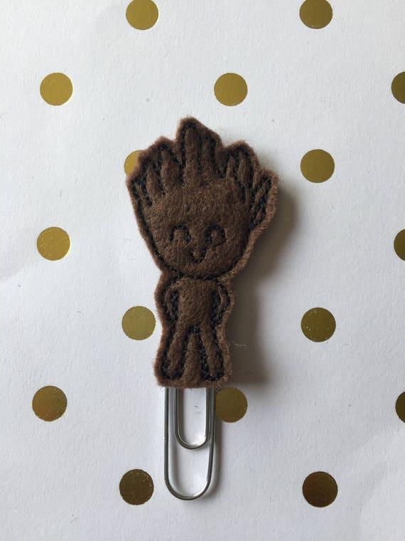 Tree Guy planner Clip/Bookmark. Character Planner Clip. Galaxy planner clip. Guardian planner clip. Groot