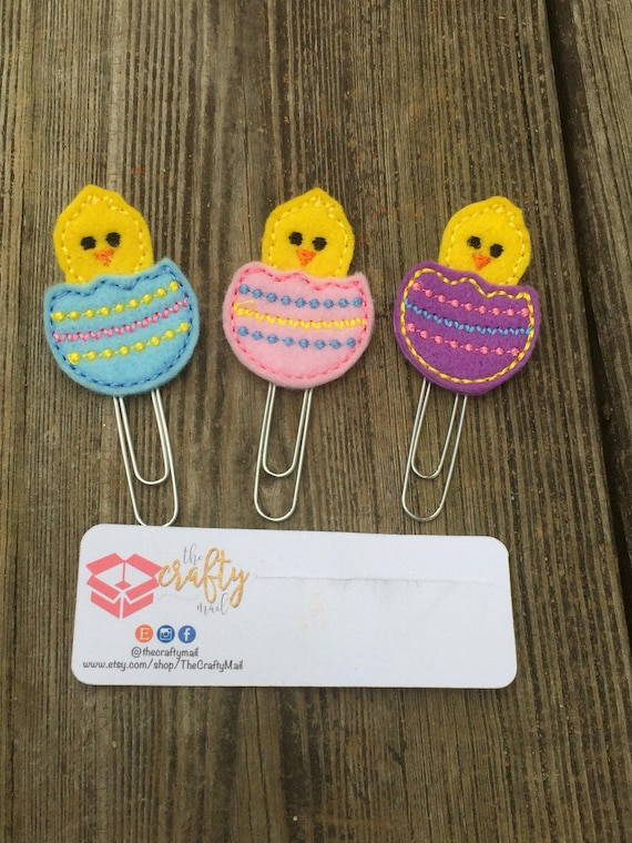 Hatching Chicks Planner Clip/Planner Clip/Bookmark. Choose from 3 colors. Easter planner clip