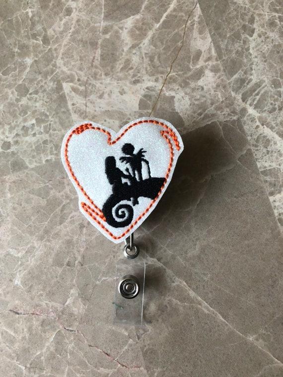 Nightmare Badge Reel/ Badge Reel/Nurse Badge Reel. Pumpkin Badge Reel/Halloween badge reel