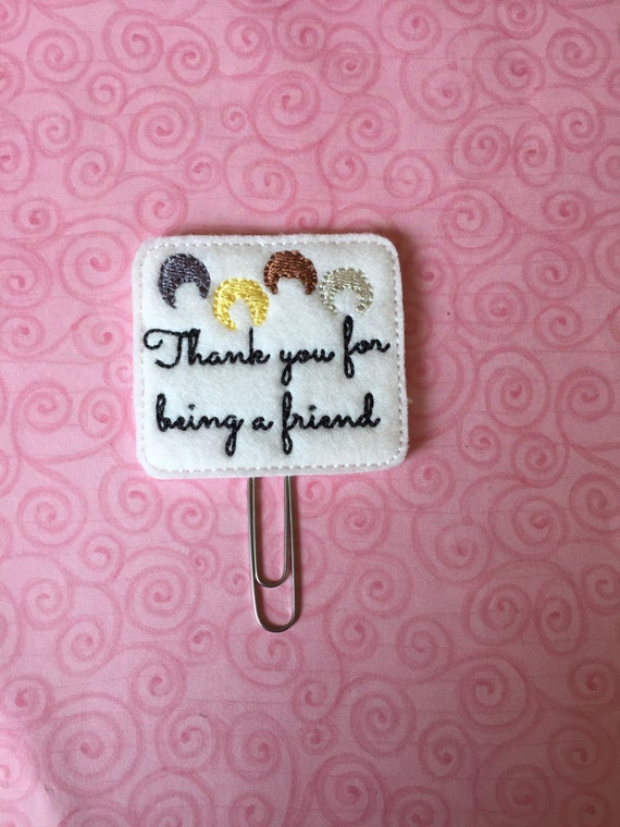 Thank You For Being A Friend Golden Girls Planner Clip. Golden Girls Planner Clip. Squad Planner Clip. Friend Planner Clip.