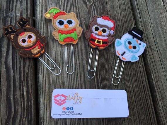 Holiday Owls Planner Clip/Paper Clip/Feltie Clip. Coffee Planner Clip. Fall Planner Clip. Christmas Planner Clip