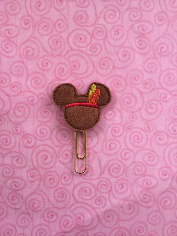 Indian Mouse Planner Clip. Mouse Planner Clip. Fall Planner Clip. Thanksgiving Planner Clip. Native American Planner Clip