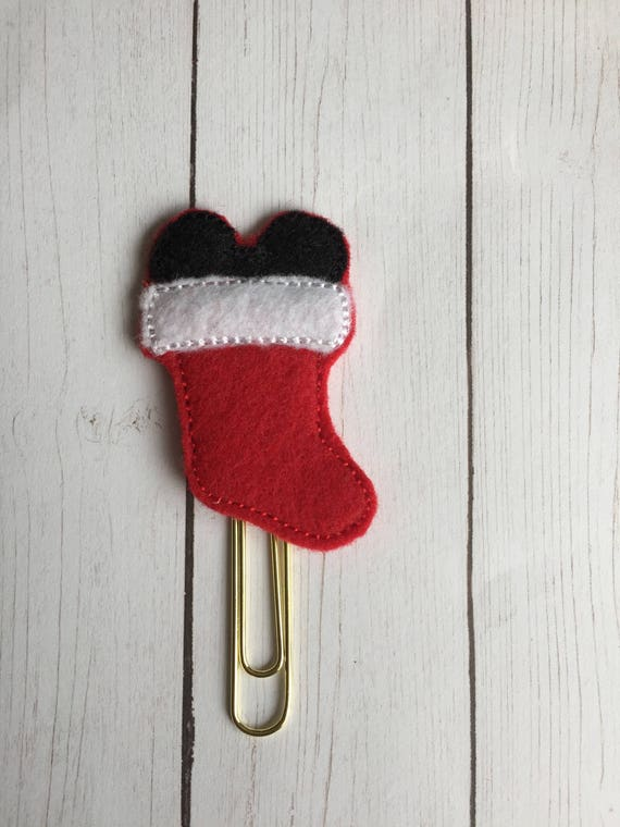 Mr Mouse Stocking planner Clip/Planner Clip/Bookmark. Mouse Planner Clip. Stocking Planner Clip. Christmas planner clip. holiday planner