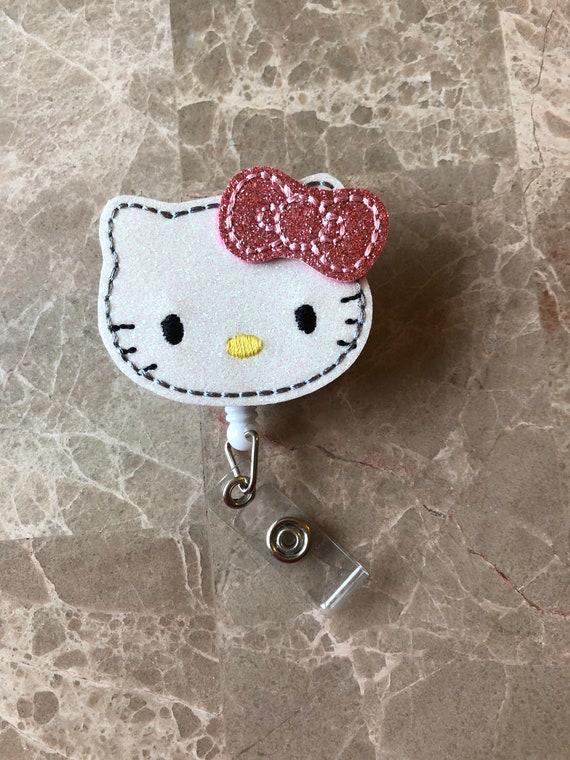 Glitter Kitty Badge Reel/ Badge Reel/Nurse Badge Reel. Cat Badge Reel. Kitty Badge Reel.