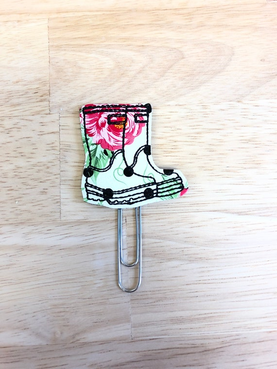 Flower Print Rain Boots Bow planner Clip/Planner Clip/Bookmark. Flower Planner Clip. Boots Planner Clip. Shoe Planner Clip. Floral Planner