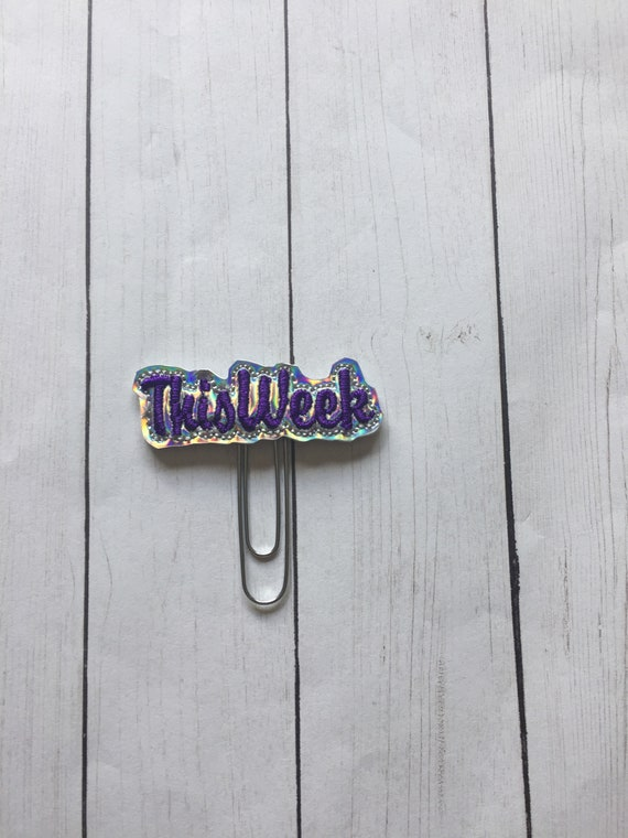 Holographic This Week Planner Clip/Planner Clip/Bookmark. This Week Planner Clip. Organizing Planner Clip. Word Planner Clip. Week Clip