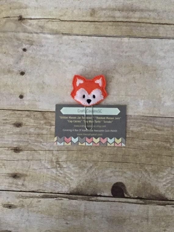 Fox Paper Clip. Fox planner clip. Woodland fox planner clip. Animal planner clip