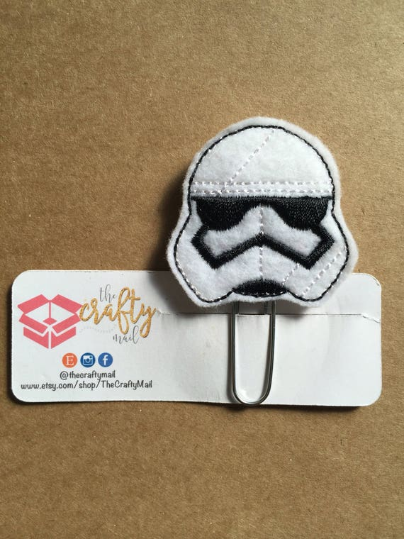 Trooper Planner Clip/Bookmark. Star Wars planner clip