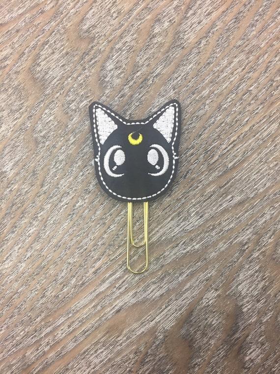 Vinyl Luna Cat Clip/Planner Clip/Bookmark. Lunacat Planner Clip. Cat Planner Clip. Moon cat planner clip