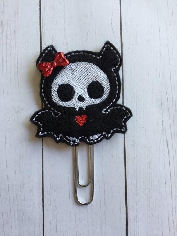 Skeleton Bat planner Clip/Planner Clip/Bookmark. Bat Planner Clip. Skeleton Planner Clip. Halloween Planner Clip