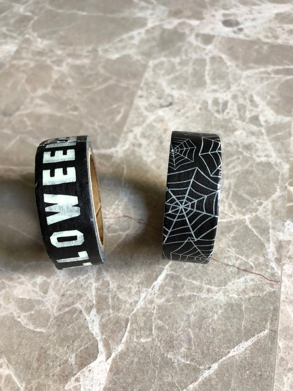 Glow In The Dark Halloween Washi Tape/Paper Tape/Decorative Tape/Packaging. Halloween Washi. Glow In The Dark Washi. 2 Styles to choose from