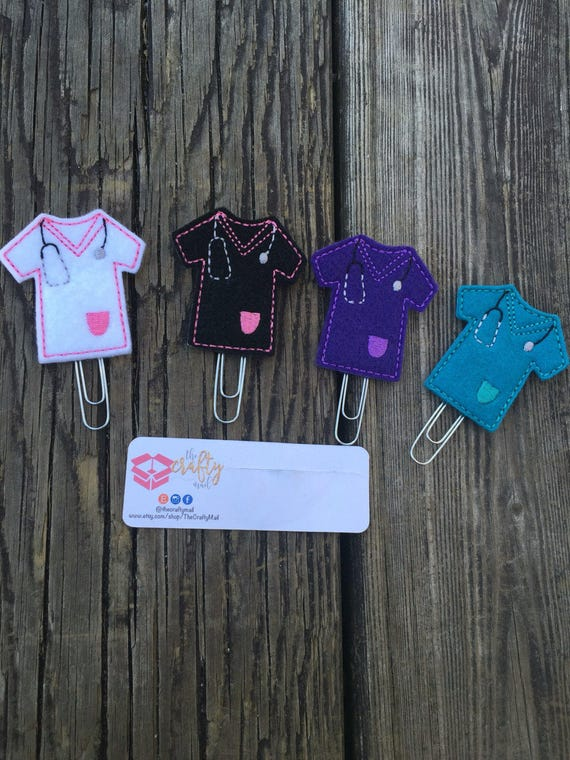 Nurse, Doctor Scrubs Clip/Planner Clip/Bookmark. Choose your color
