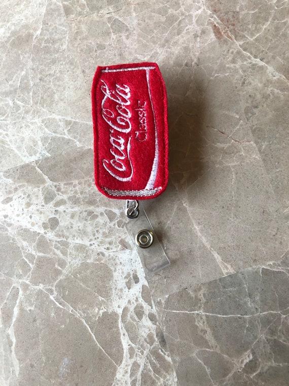 Soda Can Badge Reel/ Badge Reel/Nurse Badge Reel. Drink Badge Reel. Soda Badge Reel.