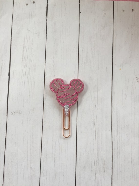 Glitter Cotton Candy Mouse Clip/Planner Clip/Bookmark. Mouse Planner Clip. Mickey Planner Clip. Candy Planner Clip. Cotton Candy Clip