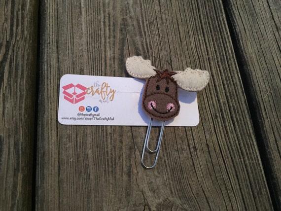 Moose Head Planner Clip/Paper Clip/Feltie Clip