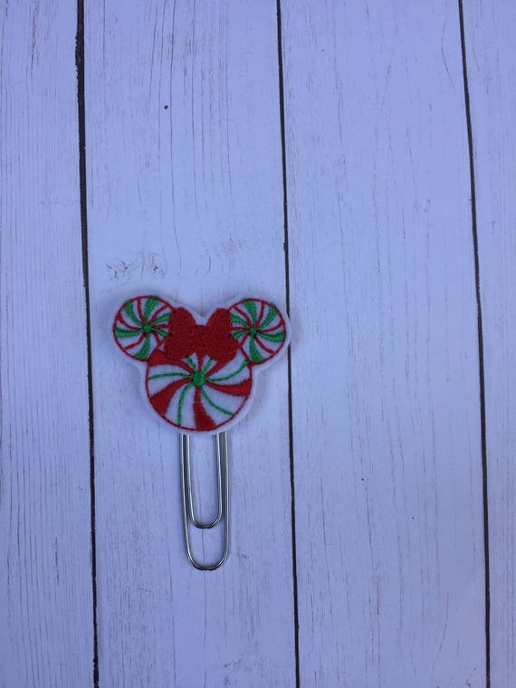 Peppermint Swirl Mouse Planner Clip/Planner Clip/Bookmark. Mouse Planner Clip. Rose Gold Planner Clip. Girl Mouse clip. Holiday planner clip