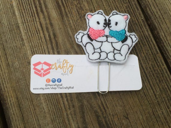 Kissing Bears Planner Clip/Planner Clip/Bookmark.