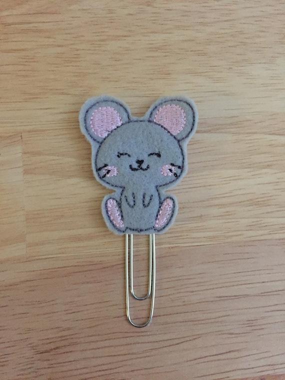 Mouse Planner Clip/Planner Clip/Bookmark. Mouse Planner Clip. Animal Planner Clip.