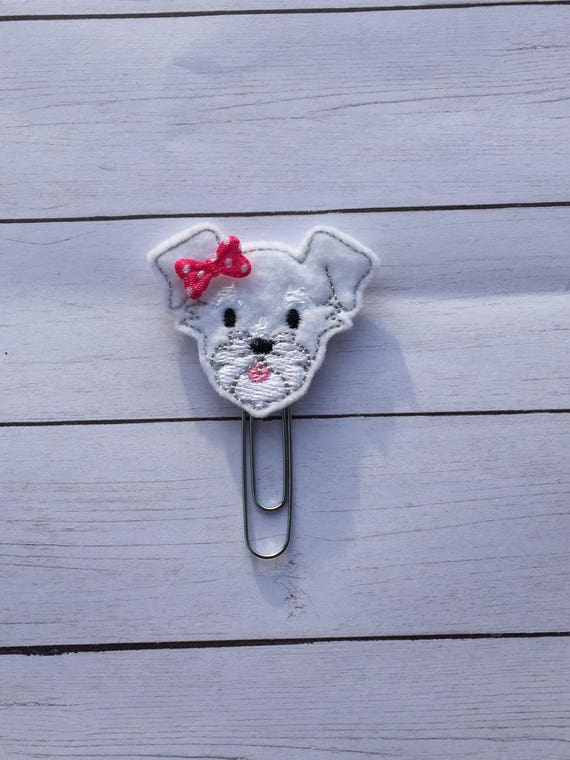 Schnauzer Clip/Planner Clip/Bookmark. Dog Planner Clip. Schnauzer Planner Clip. Puppy Planner Clip. Choose from 3 Colors
