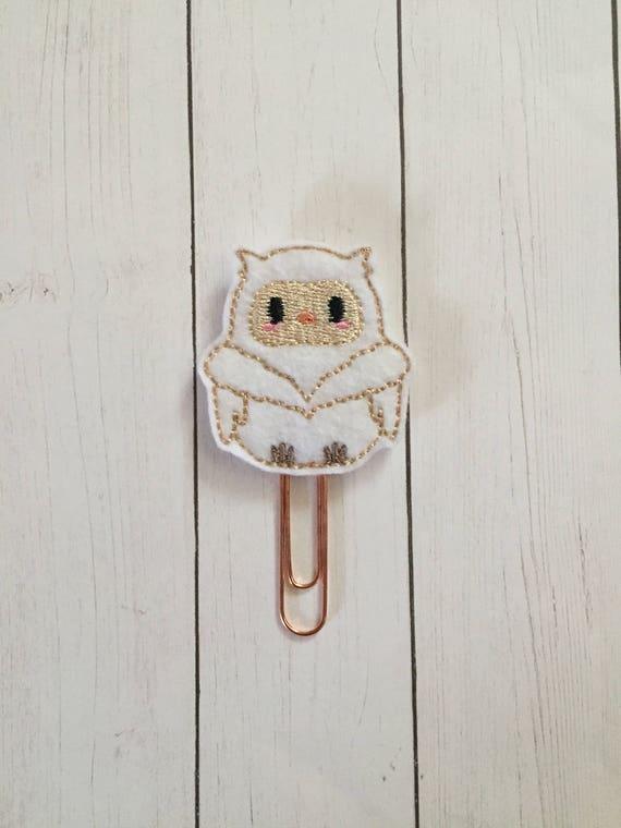 Winter Owl Planner Clip/Planner Clip/Bookmark. Owl Planner Clip