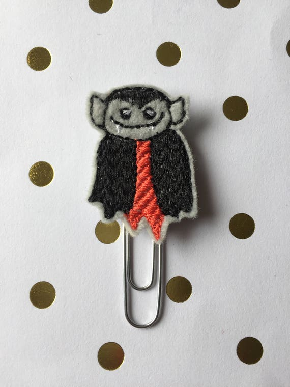 Dracula planner Clip/Planner Clip/Bookmark. Halloween Planner Clip. Fall Paper Clip. Dracula paper clip