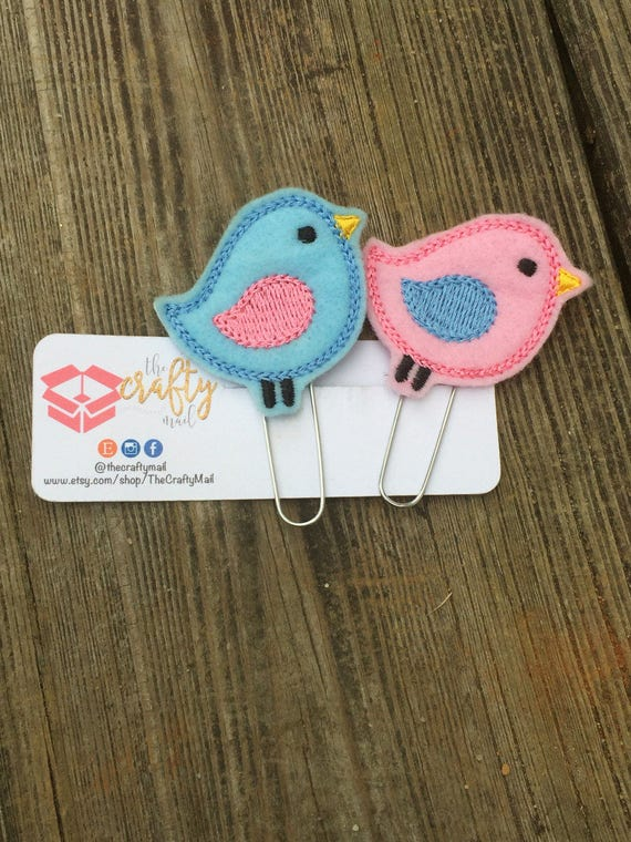 Spring Birds Planner Clip/Planner Clip/Bookmark. Spring planner clip. Choose from 2 colors